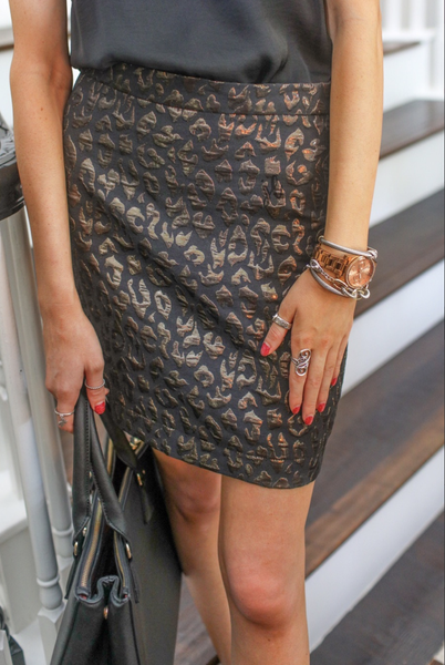 Luxury Leopard Skirt