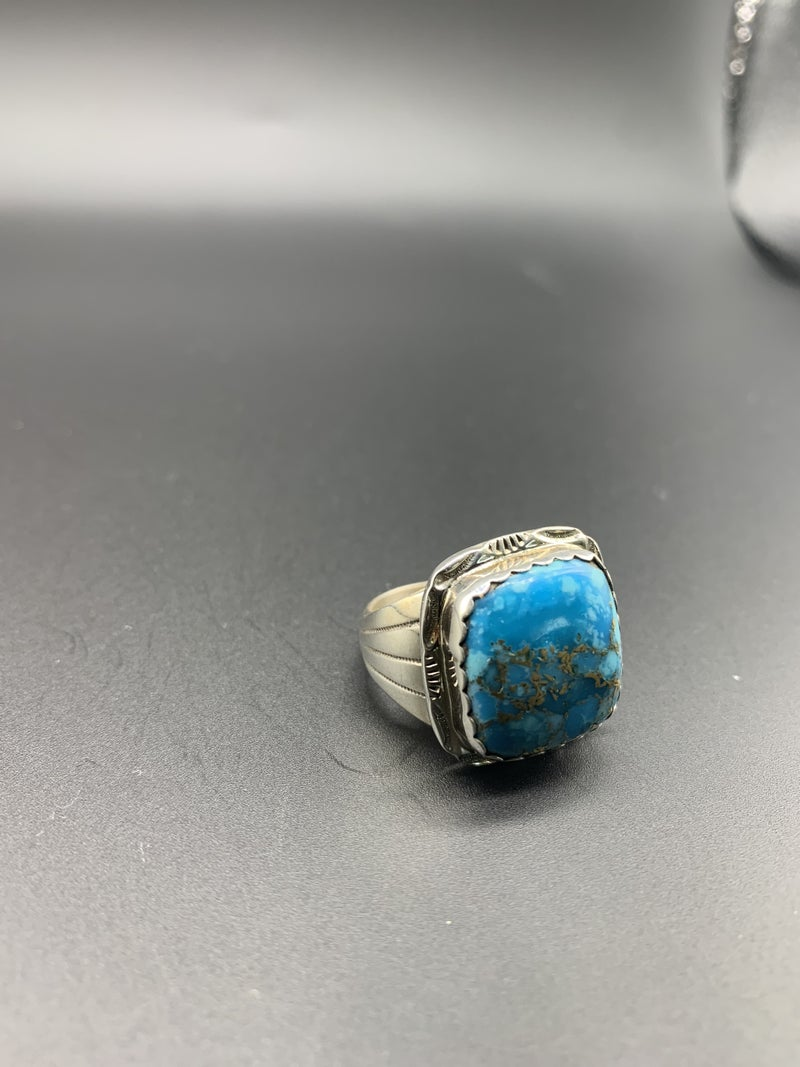 M&S Square Turquoise Ring