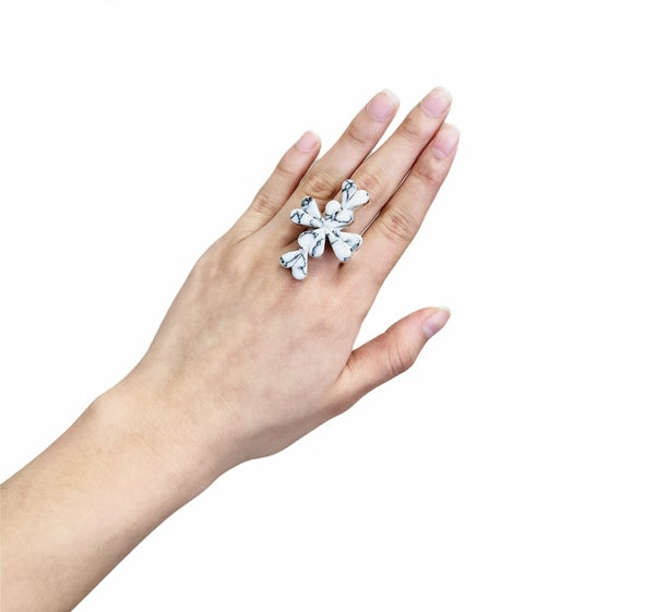 Cross My Heart Adjustable Ring