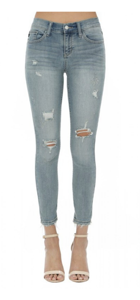 Judy Blue Cropped Ankle Skinny Jeans