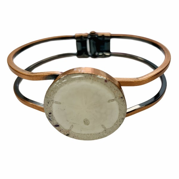 Sand Dollar Copper Hinge Cuff