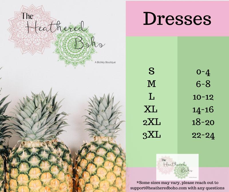Dress sizing guide
