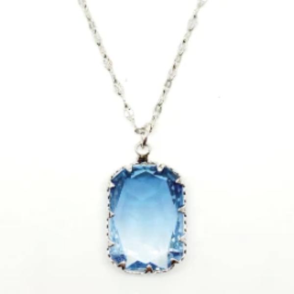 Rainbow Necklace - Sky Blue