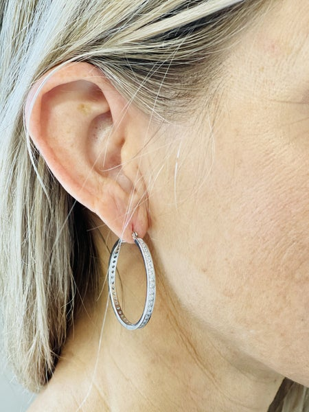 Feelin' Glam Hoop Earrings