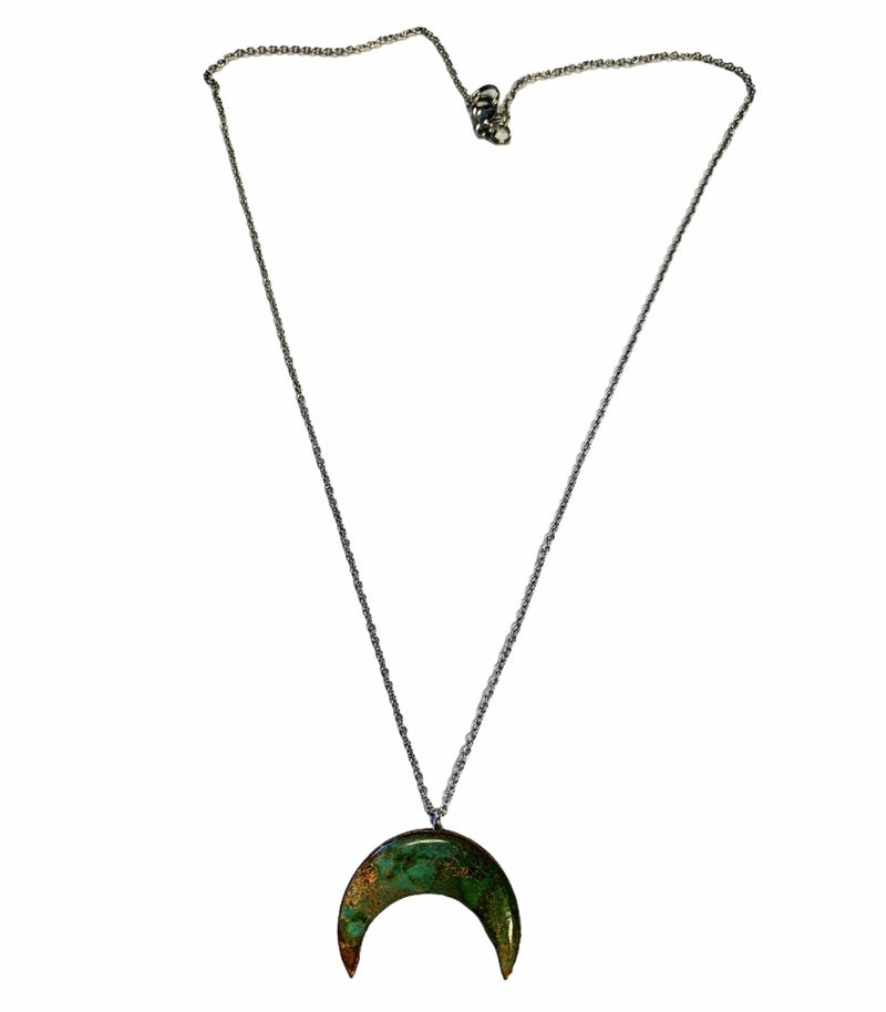 Rusty Moon Necklace