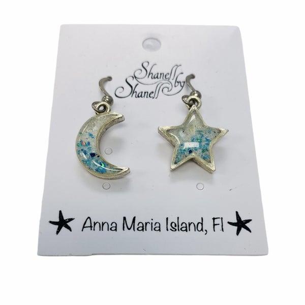Star & Moon Opal Earrings
