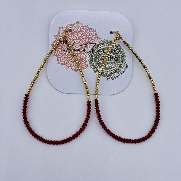 Burgundy Beauty Earrings