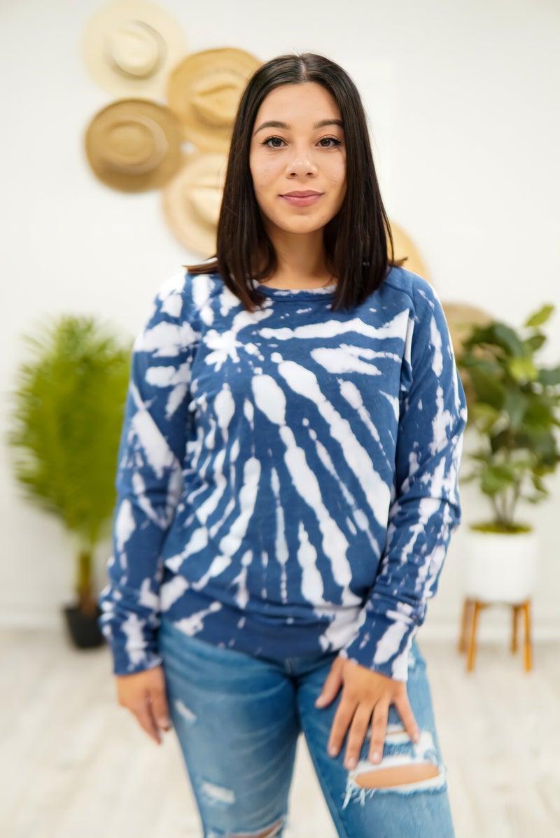 Navy Nights Tie Dye Sweater