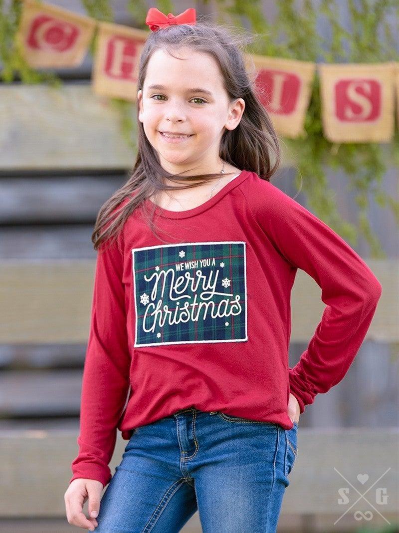 Merry Christmas Kid's Long Sleeve