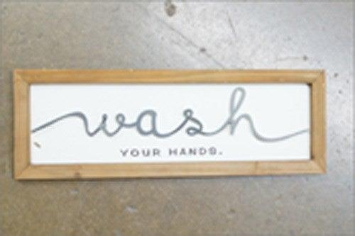 Wash Laser Cut Sign