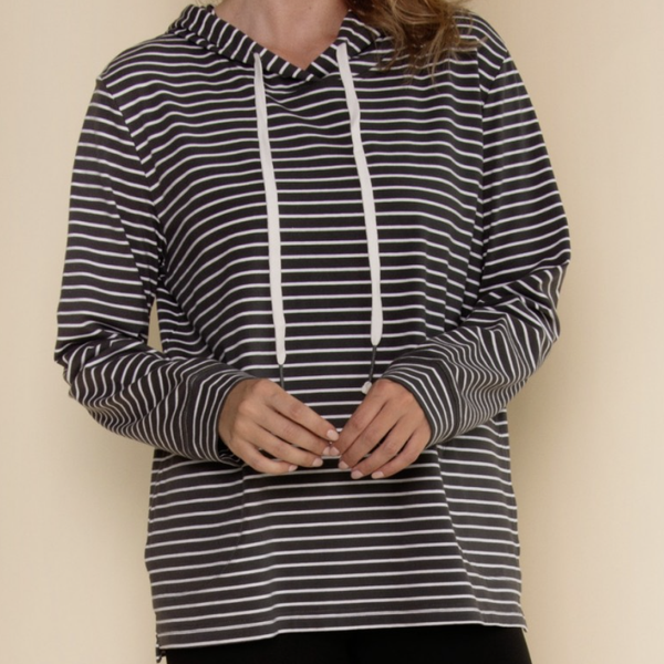 Simply Striped Light Hoodie