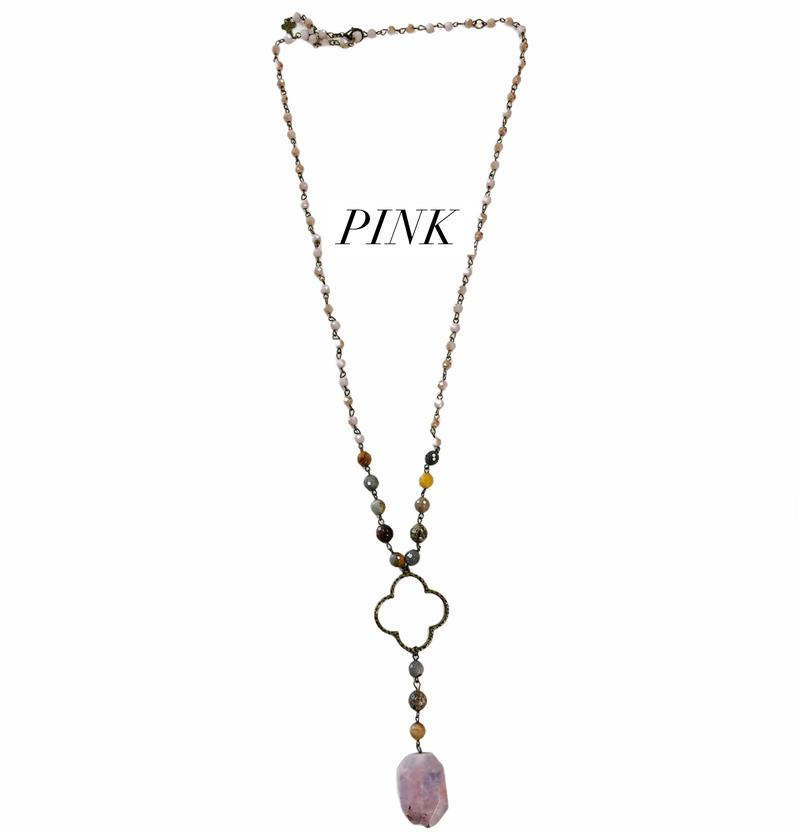 Boho Livin' Handmade Stone Necklace