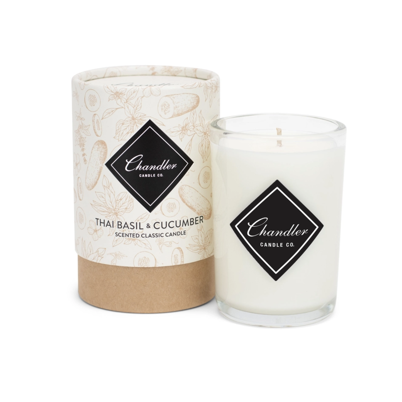 Chandler Candle Co Thai Basil Cucumber Classic Candle