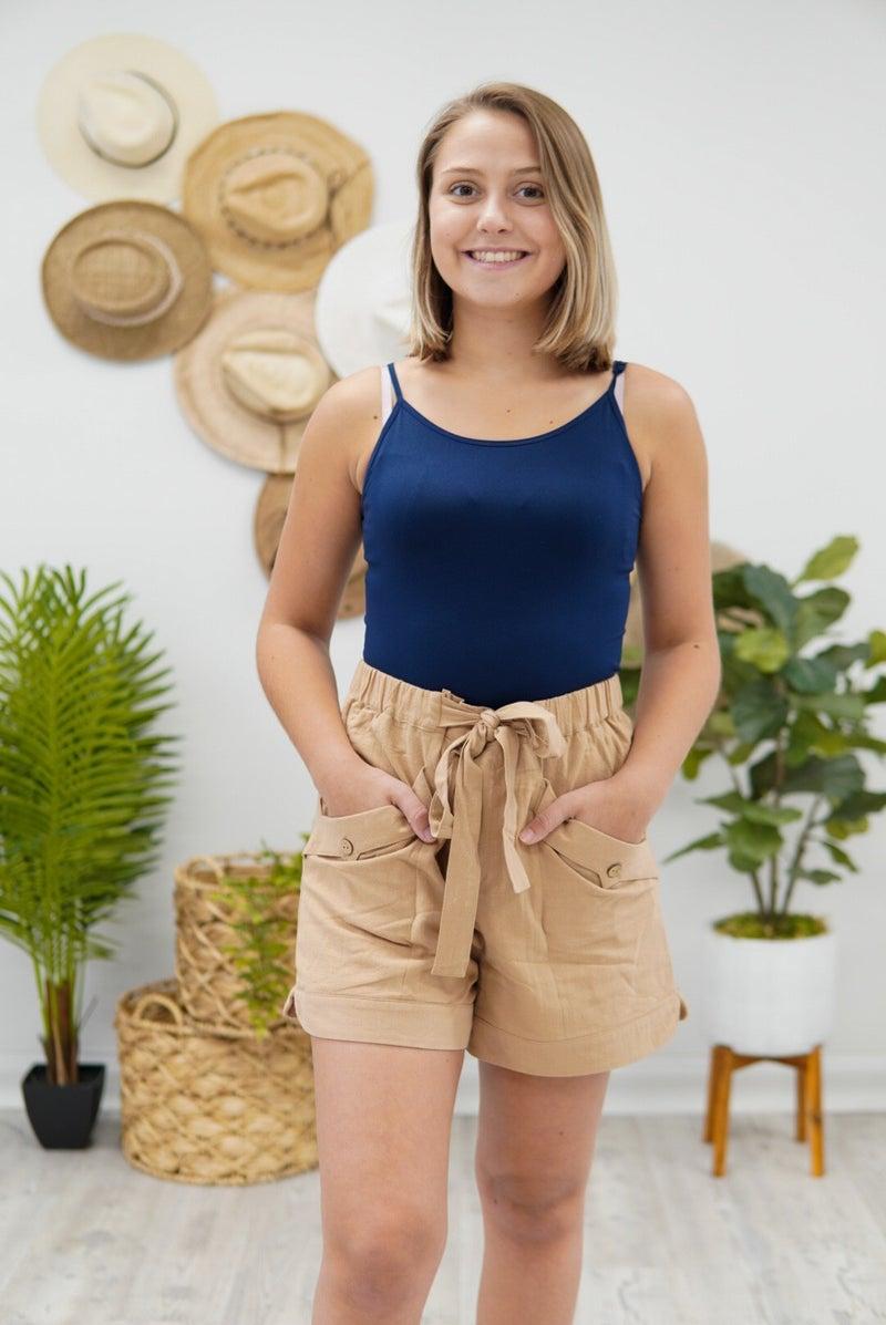 Cutie In Cotton Drawstring Shorts