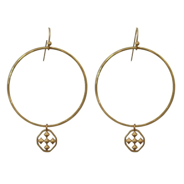 Gracewear Collection Hammered Hoop Earrings