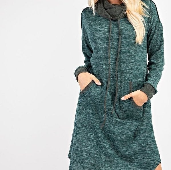 Cowled Cutie Sweater Dress