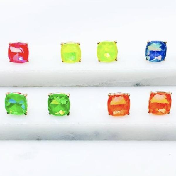 Brightly Beautiful Neon Stud Earrings