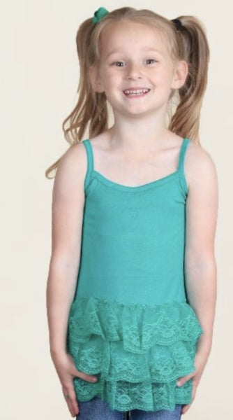 Ruffles and Lace Girls Cami