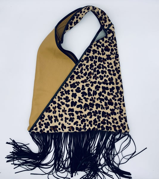 Kimono Wrap Bag With Fringe