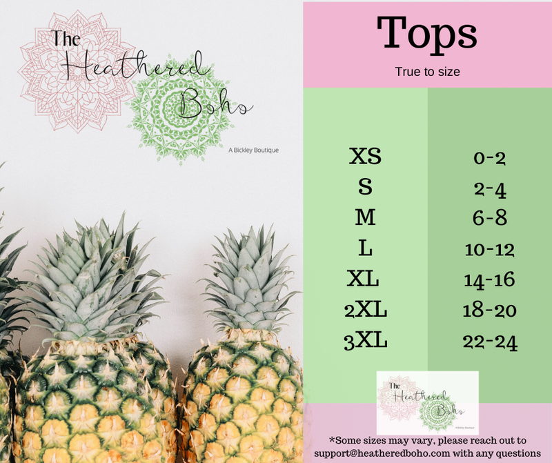 Sizing Guides Tops