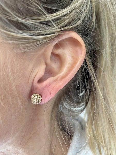 Lions Head Earrings