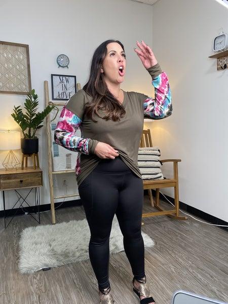 Maggie Magenta V-Neck Top