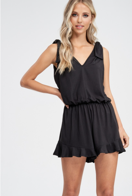 Sleeveless Lacy Romper