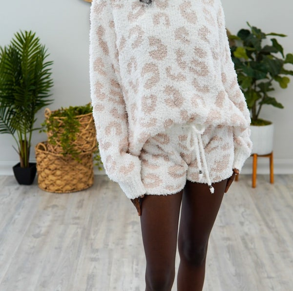 Leopard Like Nothing Else Lounge Shorts
