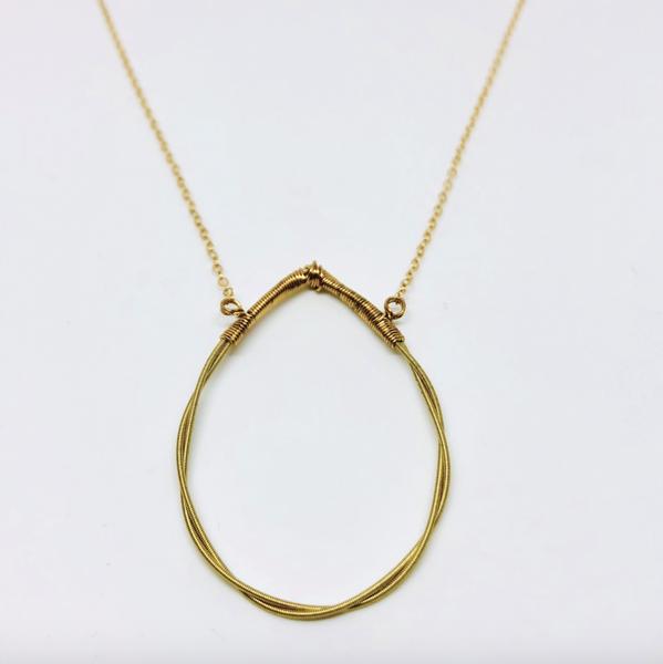 Twisted Teardrop Necklace