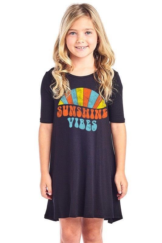 Adorable Girls Sunshine Vibes Dress