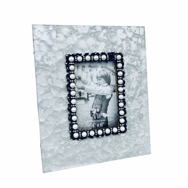Metal and Pearl Picture Frame