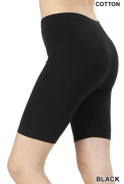 Cozy Trendy Black Biker Shorts