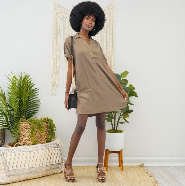 Cute As A Button Dress