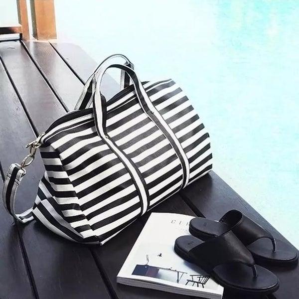 Sassy Striped Weekender Bag