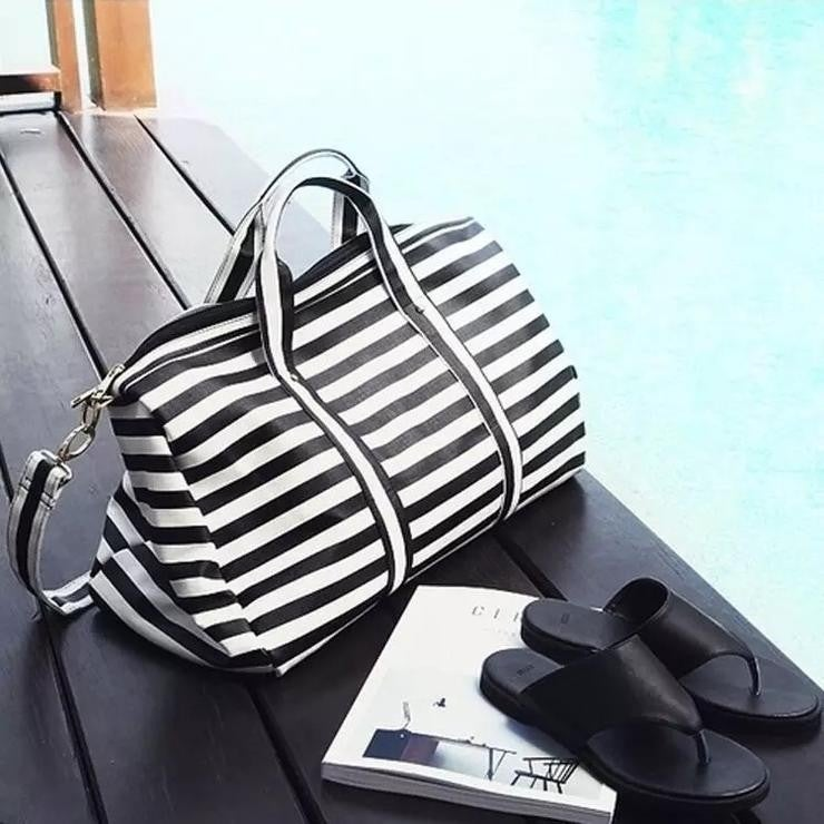Sassy Striped Weekender Bag