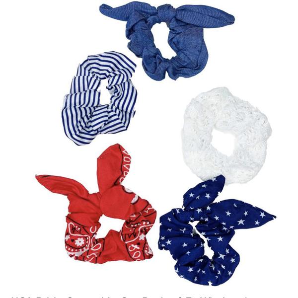 USA 5 Pack Scrunchies