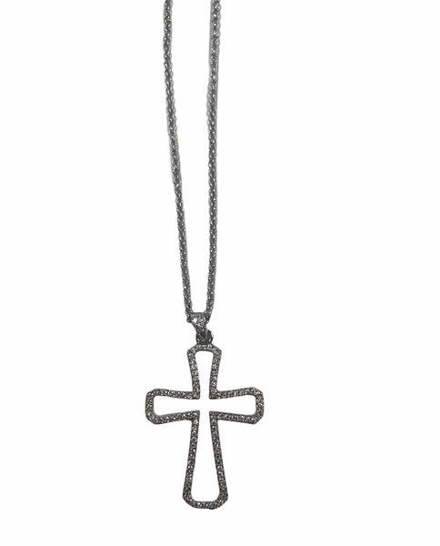Cross My Heart Pendant Necklace