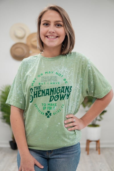 Shenanigans Bleached Tee
