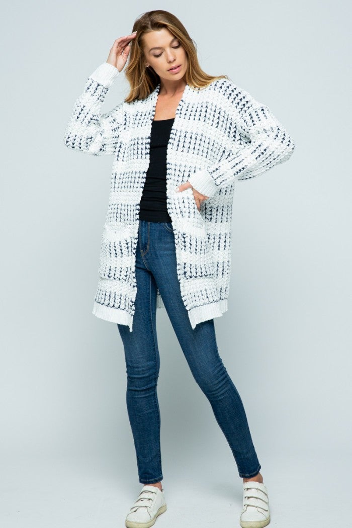 Woven In Color Cardigan
