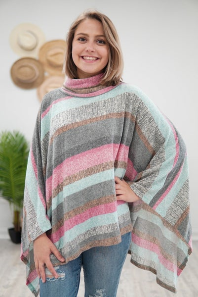 Sriped & Lovely Poncho