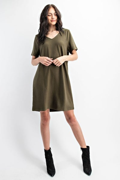 Olive Simplicity Dress