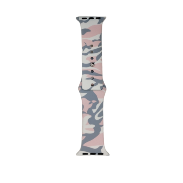Pink Camo Silicone Band