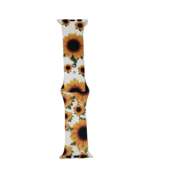 Sunflowers On White Silicone