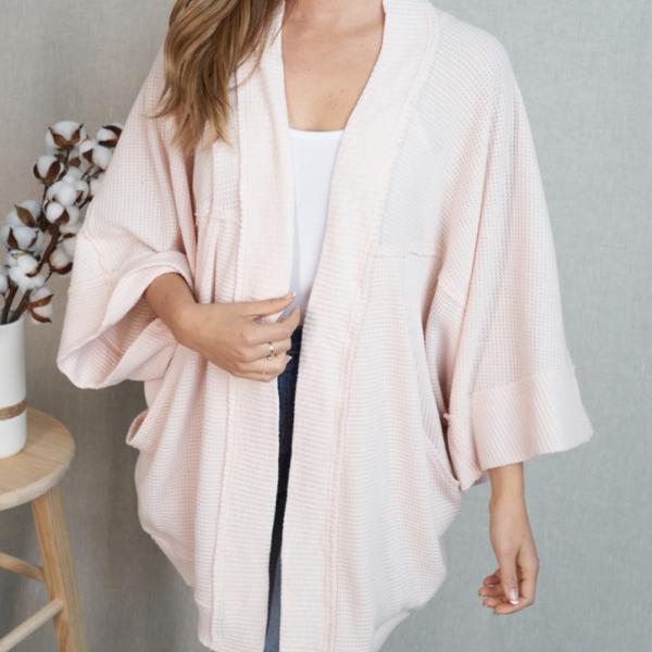 Waffly Wonderful Kimono Cardigan