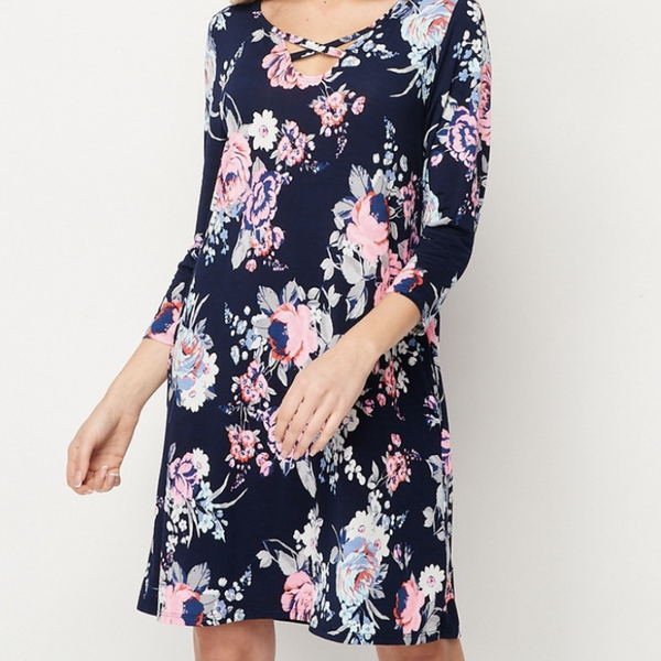 Flower Power Cage Front Dress by Honeyme