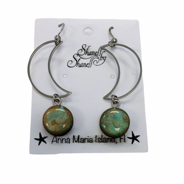 Copper Moon Goddess Earrings