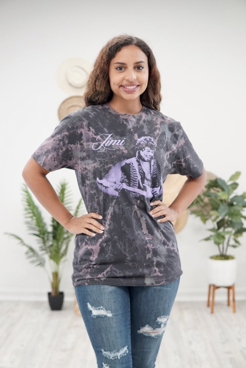 Jimi Hendrix Acid Washed Tee