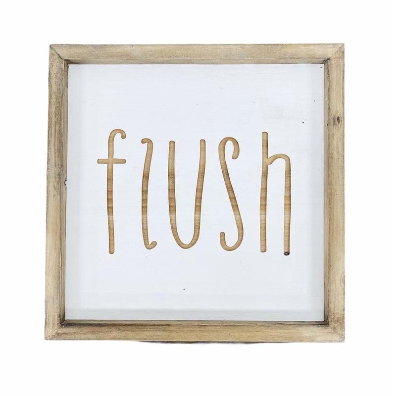 Flush Wood Sign