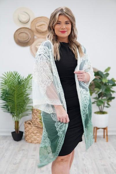 Ombré Lace Kimono