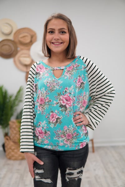 Floral & Stripes A Perfect Combo Top